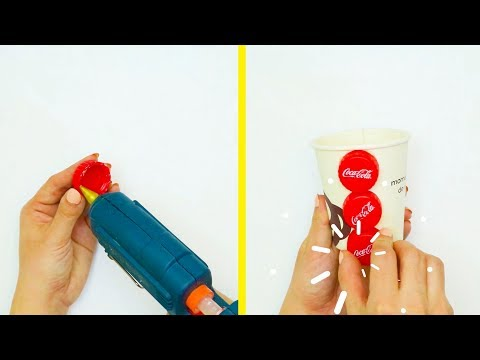 5 DIY PROJECTS WITH PAPER AND PLASTIC CUPS DISPOSABLE CUPS DIYs
