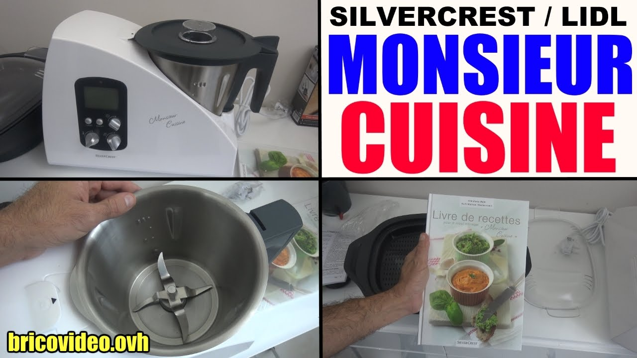 Food Processor Monsieur Cuisine Lidl Silvercrest Blending Whisking
