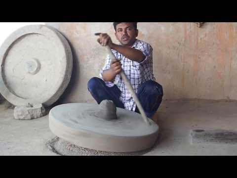 Manual Hand Spun Pottery Wheel outside Jodhpur, India
