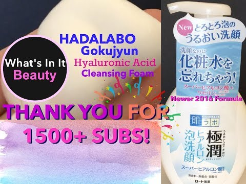 Hadalabo Gokujyun Hyaluronic Acid Cleansing Foam - What's In It? | +THANK YOU FOR 1500+ SUBS!!