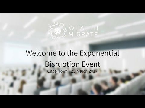 The Exponential Disruption Live Stream   Wealth Migrate