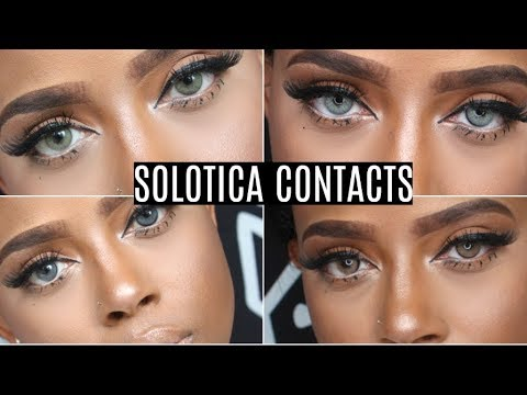 The Best Colored Contacts For Dark Eyes Solotica Try On Haul | Mel, Ocre, Crystal, Graphite, Quartz