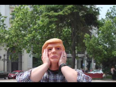 Democrats Abroad protest against Donald Trump inValencia