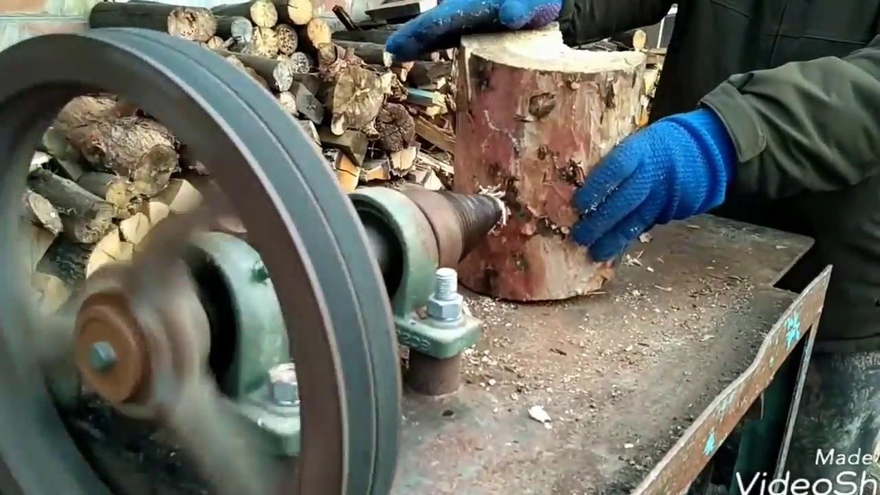 Как быстро колоть дрова. Винтовой  дровокол своими руками.