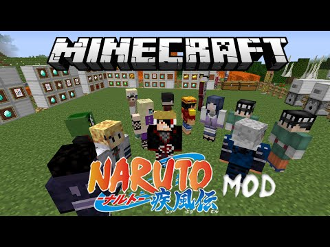 Minecraft Anime Naruto Mod Review (Sage Mode, Susanoo, Rinnegan, Amaterasu & More)