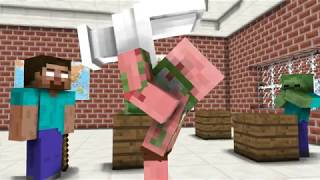 Monster School  The Mobs Caught the Teacher Dancing in the Classroom   Minecraft1
