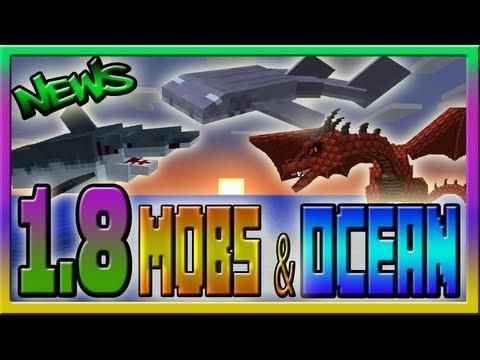 Minecraft 1 8 Snapshot News Mobs Amp Ocean Update Youtube