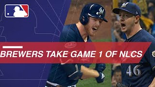 Brewers hold off Dodgers to take Game 1 of NLCS