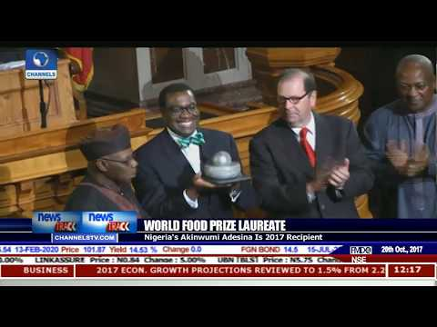 Adesina Receives 2017 World Food Prize Laureate Award