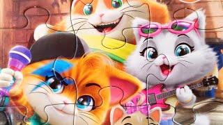 44 Котенка - Лампо и друзья - Собираем пазлы для детей 44 Cats | Merry Nika
