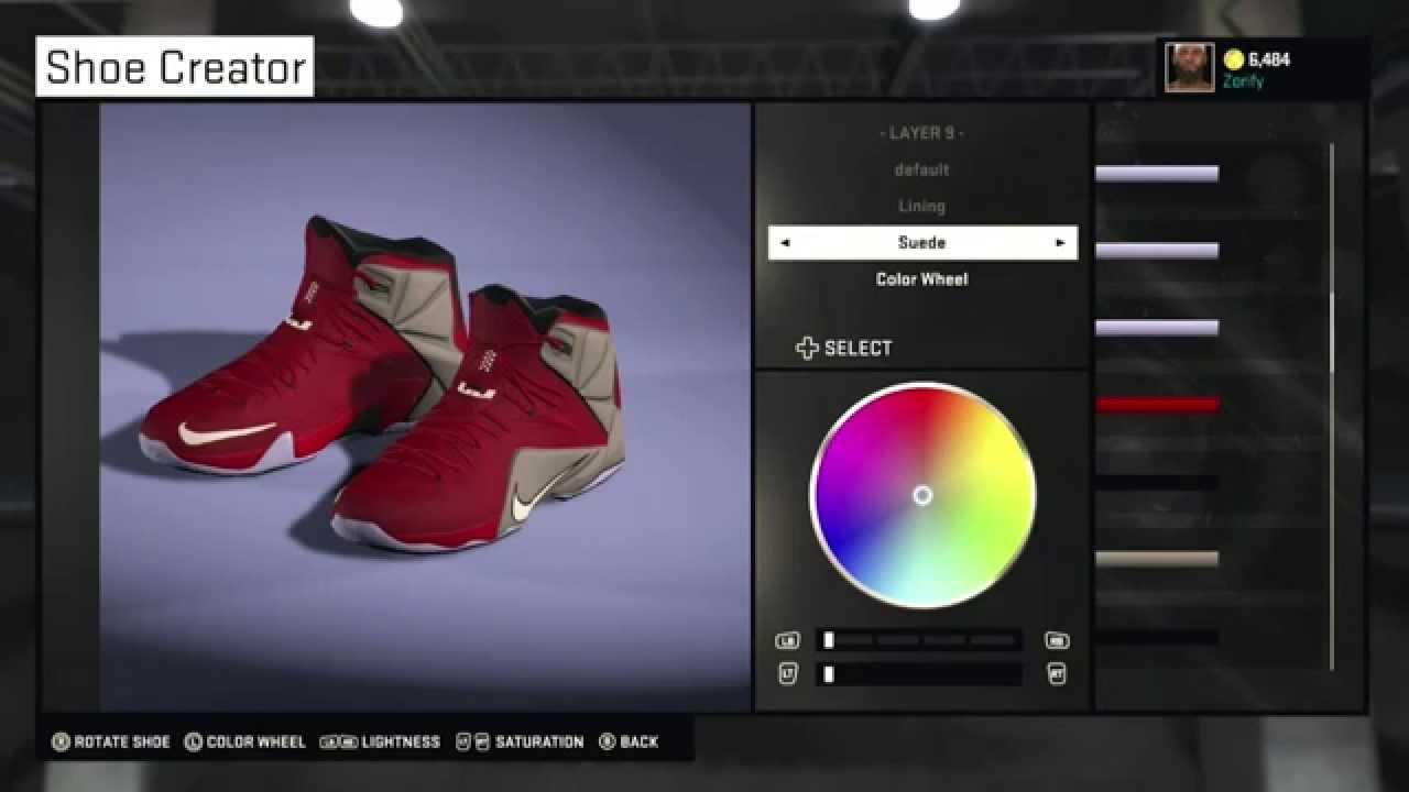 63682c01f6c1 NBA 2K15 Shoe Creator - Nike LeBron 12 PE
