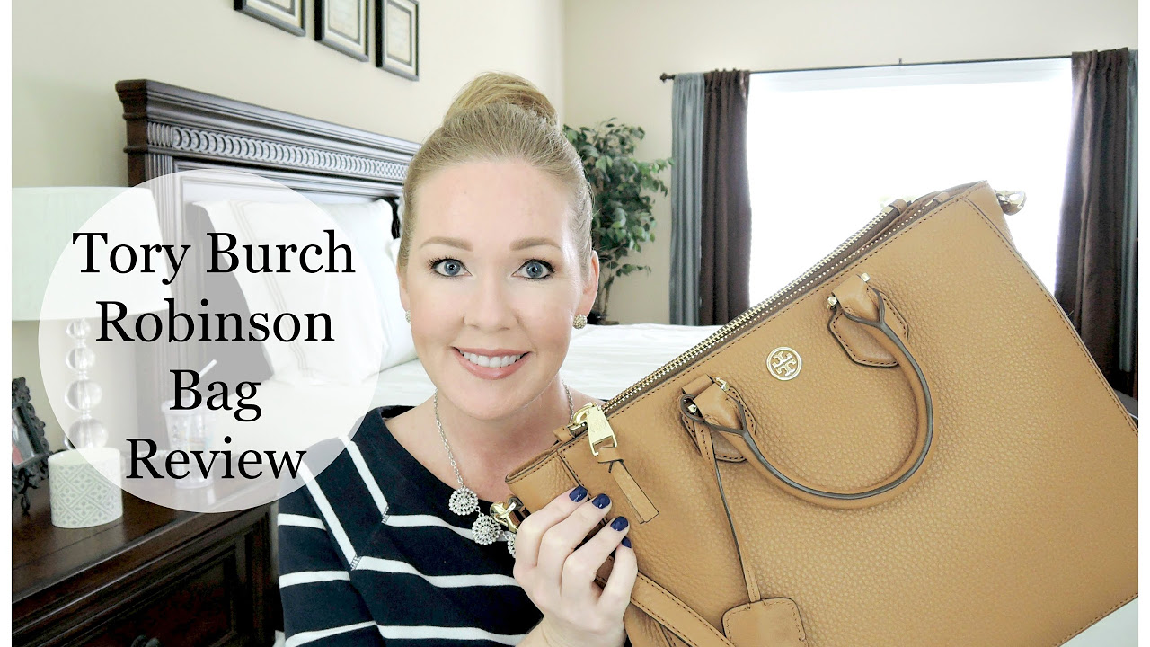 18c8c9e16f17 Tory Burch Robinson Tote Review + What s In My Bag! - YouTube