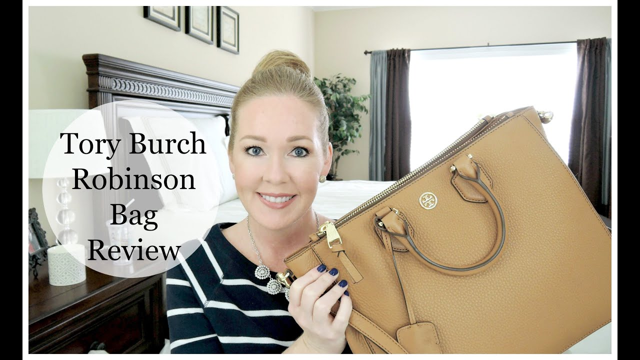b22543a4791 Tory Burch Robinson Tote Review + What s In My Bag! - YouTube