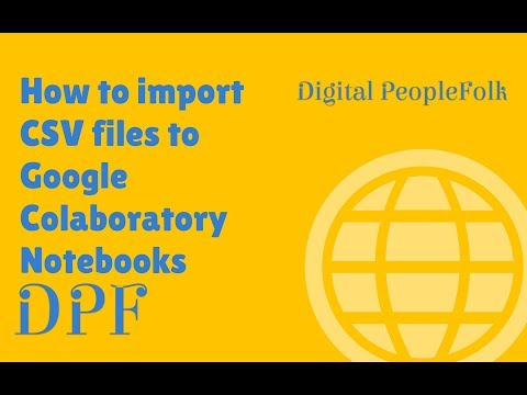 How to Import CSV Files to Google's Colab Notebooks - YouTube