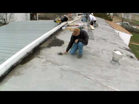 Mobile Home Insulation Drilling Through The Roof Youtube