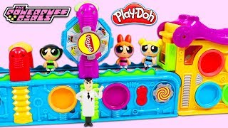 POWERPUFF GIRLS Use Play Doh Mega Fun Factory Playset to Magically Create Surprise Toys!