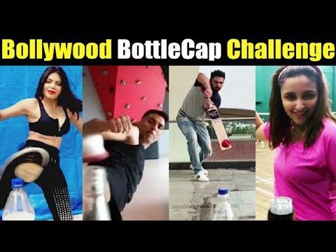 Bollywoood Actors Bottle Cap Challenge Compilation Salman | Akshay | Tiger| Parineeti Mp3