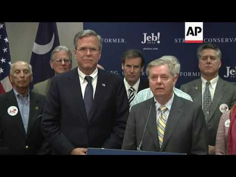 Bush Wins Endorsement of Sen. Lindsey Graham