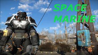 Fallout 4 Space Marine Black Templars Power Armor