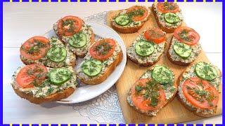Бутерброды с рыбной консервой и яйцом