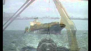 Salvage of MSC Nikita off Rotterdam.wmv