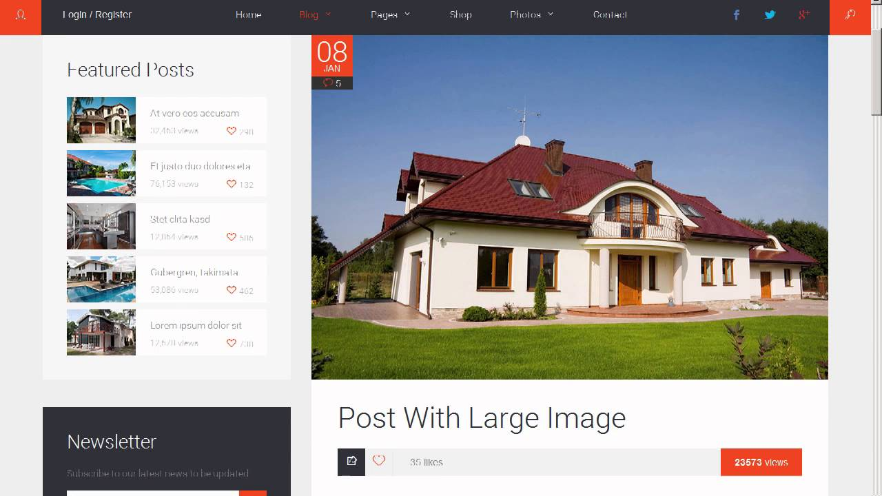 Arch Blog - Architecture and Real Estate Blog HTML template - Site ...