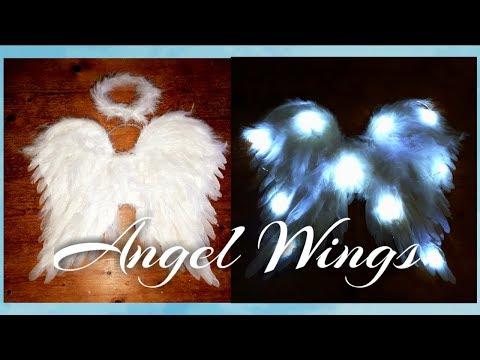 DIY Angel Wings / DIY Angel Wings With Lights  😇 / Halloween Angel Costume/ Christmas Angel Costume