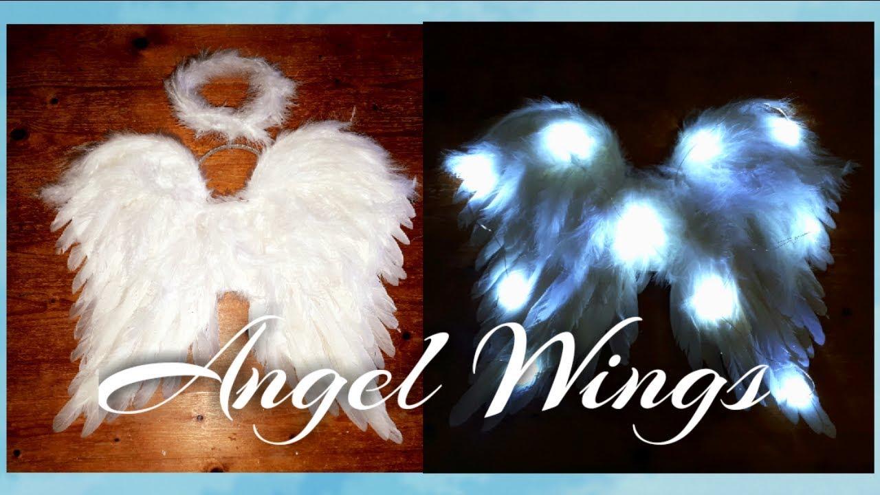 Angel Wings /& Headband Halo Angel Wings Angel Halo Kids Angel Wings and Halo White Angel Wings for Kids Angel Costumes for Girls Boys Child Feather Wings Halloween Christmas Angel Costume Wings