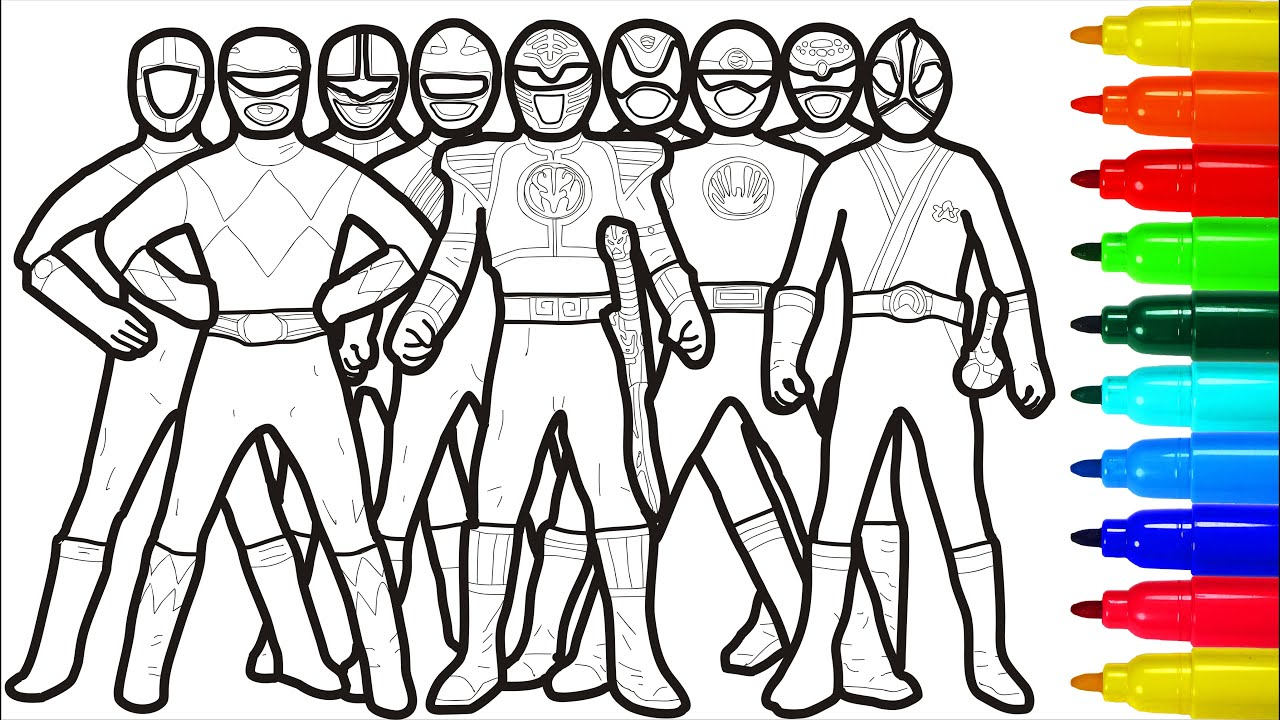 Power Rangers Coloring Pages Youtube