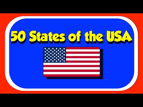 50 States of the USA- A Fun Sing Along with the Kids Picture Show!