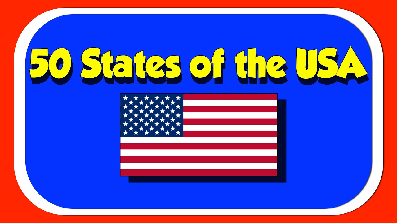 States Of The USA A Fun Sing Along With The Kids Picture Show - States of america song youtube