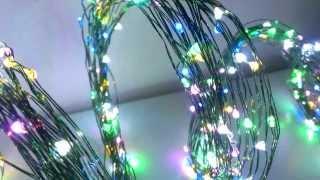 Светодиодная нить 500 RGB, гирлянда vesled.ru(Светодиодная гирлянда, состоит из тонких, гибких, влагозащищенных нитей со светодиодами. можно обвить пред..., 2013-11-14T12:44:57.000Z)
