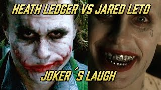 Joker´s laugh comparison Heath Ledger VS Jared Leto