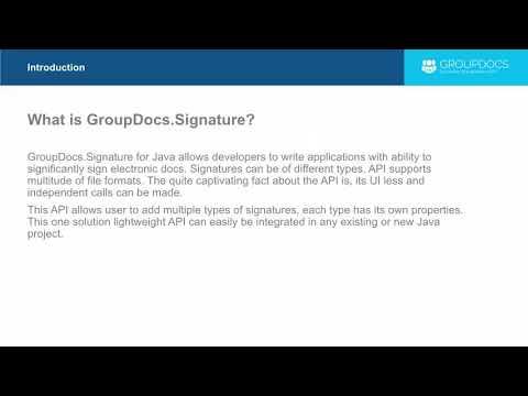 GroupDocs.Signature for Java Introduction