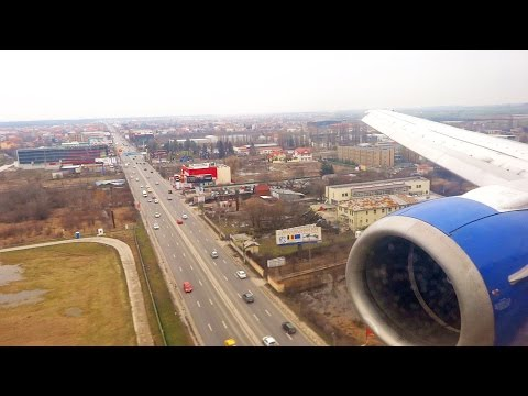 Blue Air Boeing 737-400 YR-BAK Landing at Bucharest Henri Coandă Airport