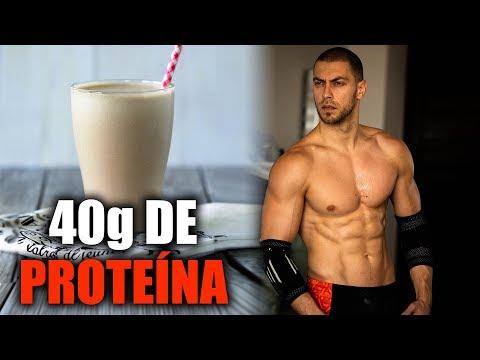 Batido de Proteína Natural para Aumentar Masa Muscular ¡NO LECHE/NO POLVO!