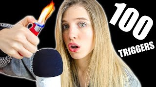 ASMR 100 TRIGGERS IN 4 MINUTES (CHALLENGE)