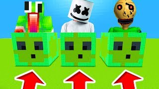 Minecraft PE : DO NOT CHOOSE THE WRONG SLIME! (Unspeakablegaming, Marshmello & Nightmare Baldi)
