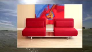 Quintiliano Convertible Sofa Bed Red