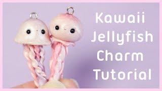 2 in 1 Kawaii Polymer Clay Jellyfish Charm Tutorial