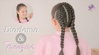 Peinados para niña cabello largo faciles