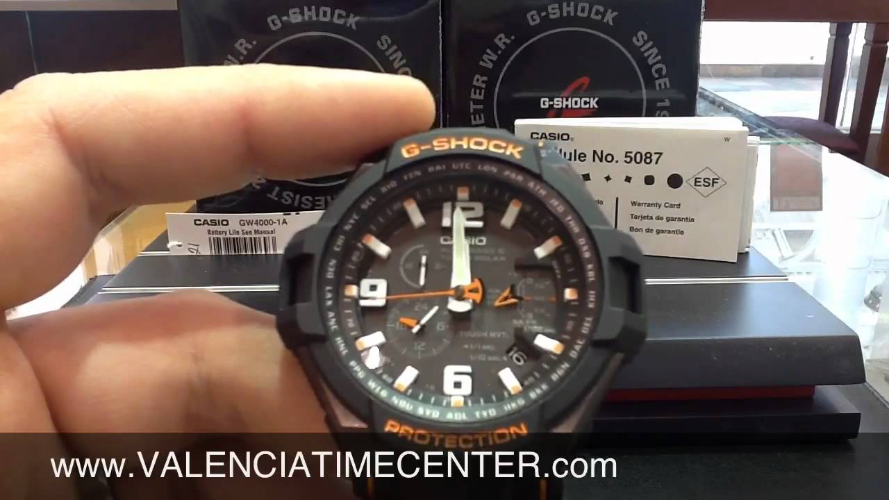 How to set Casio GW4000-1A G Shock Module 5087 by Valencia ...