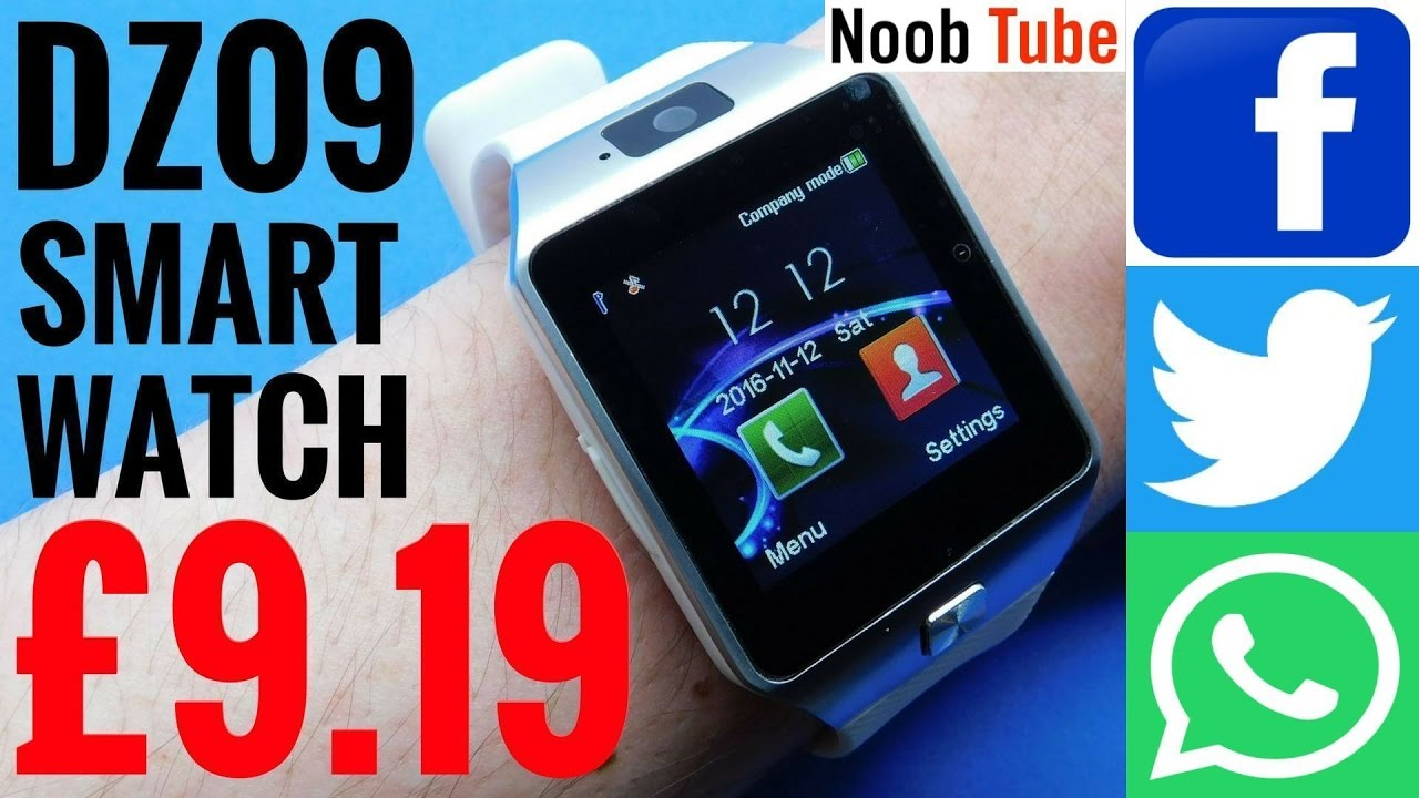 25d5dcc1bb Unboxing Review DZ09 SmartWatch & Camera Android iphone SmartPhone With  Facebook, Twitter & Whatsapp - YouTube
