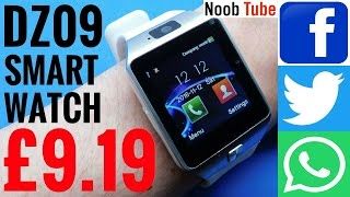 Unboxing Review DZ09 SmartWatch & Camera Android iphone SmartPhone With Facebook, Twitter & Whatsapp