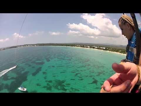 Para-Sailing at Riu Tropical Palace in Negril, Jamaica
