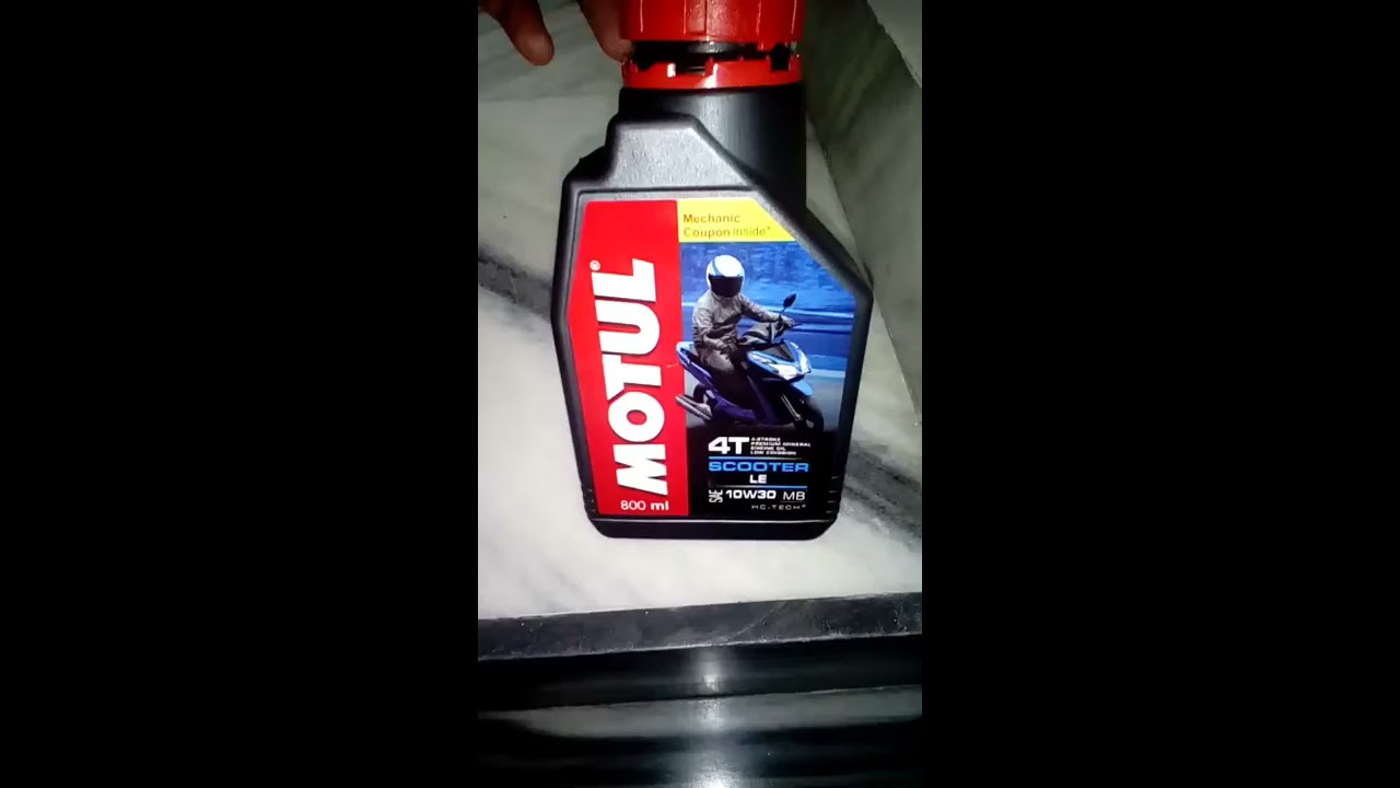Best engine oil for gearless scooter motul le scooter 10W30