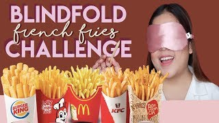 Blindfold French Fries Challenge + Taste Test (LAUGHTRIP) | Merienda Time