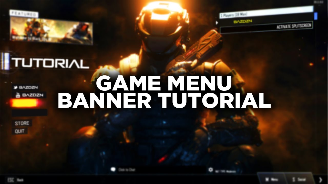 How To Design A Game Menu Header BazDZN YouTube - Game menu design