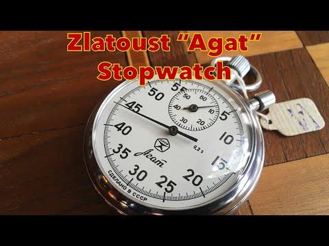 "Soviet Russian Zlatoust, ""Agat"" Stopwatch Unboxing"