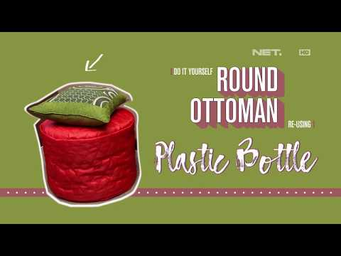 D'Sign - DIY Round Ottoman Re Using Plastic Bottle